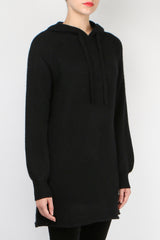 360 Cashmere Gemma Sweater Dress Black