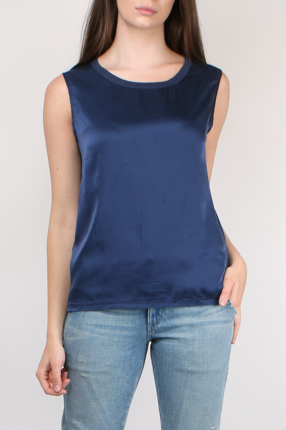 Majestic Filatures Sleeveless Crew with Back Knot