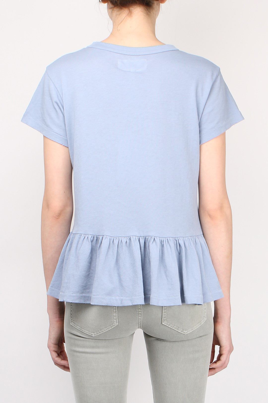 The Great Ruffle Tee Pale Blue