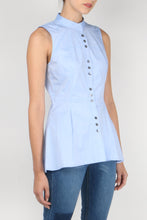 Load image into Gallery viewer, S/L 3-Button Shirt W/ Peplum