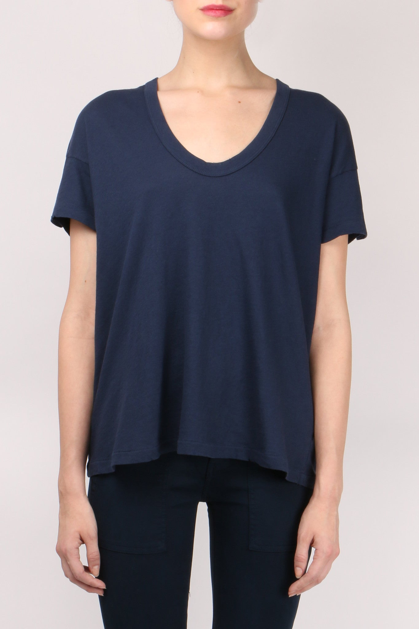 The Great The U Neck Tee Navy