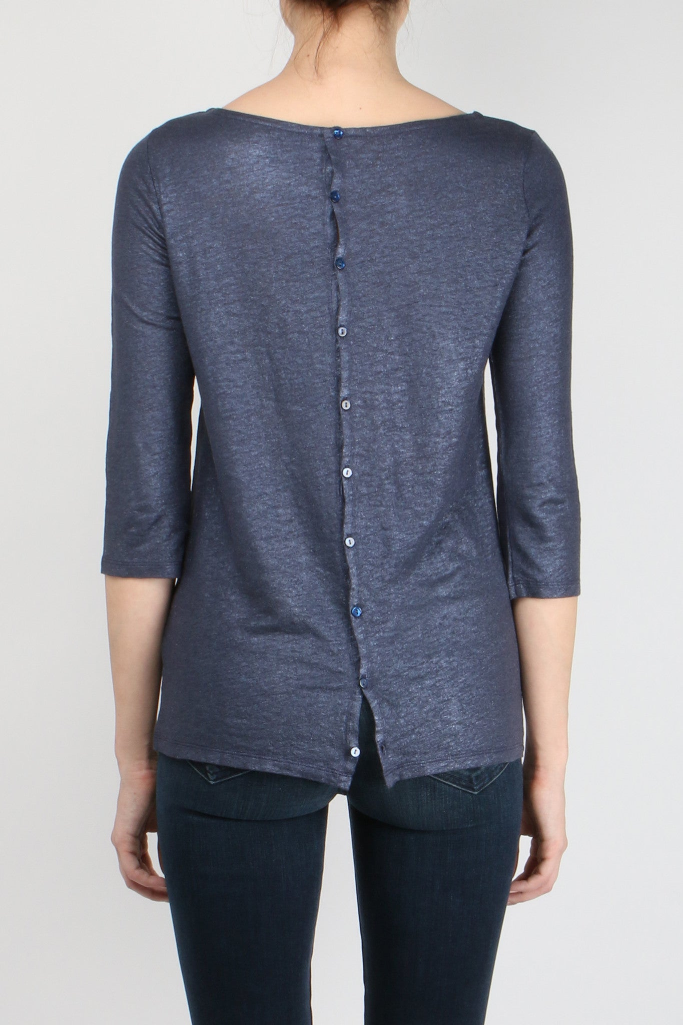 Majestic Filatures Boat Neck Button Back