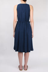 Illia Solid Drawstring Dress