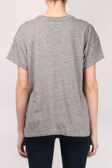 The Great The U Neck Tee Heather Grey