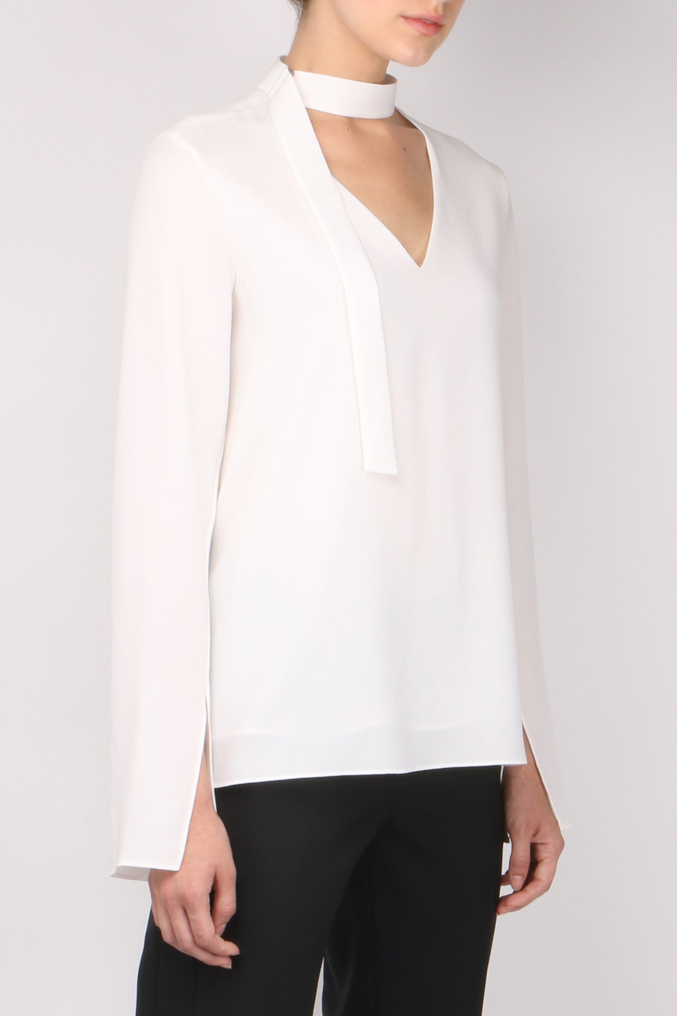 Tibi Tie Neck Top