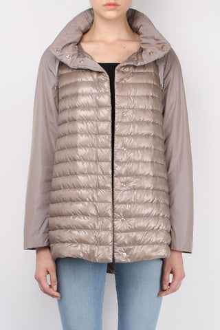 Down Front High Low Jacket