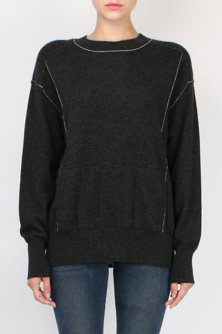 Paychi Guh Boyfriend Pullover Charcoal