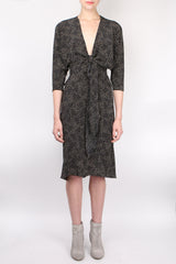 Cortana Flash Dress Black Print