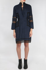 10 Crosby High Neck Dress Midnight
