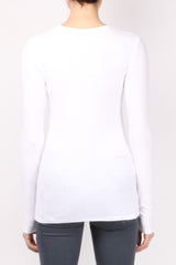 ATM Long Sleeve V Neck Rib Shirt