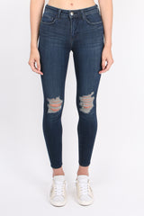 Margot High Rise Skinny W/ Destruction