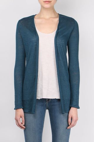 Linen Oversized Open Cardigan
