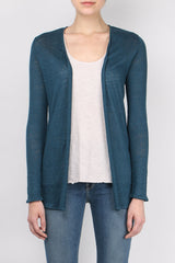Majestic Filatures Linen Oversized Open Cardigan
