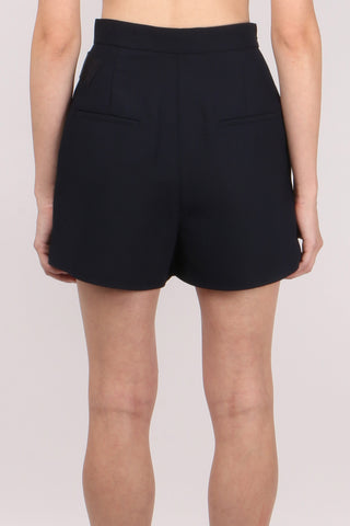 Crepe Wrap-Over Shorts