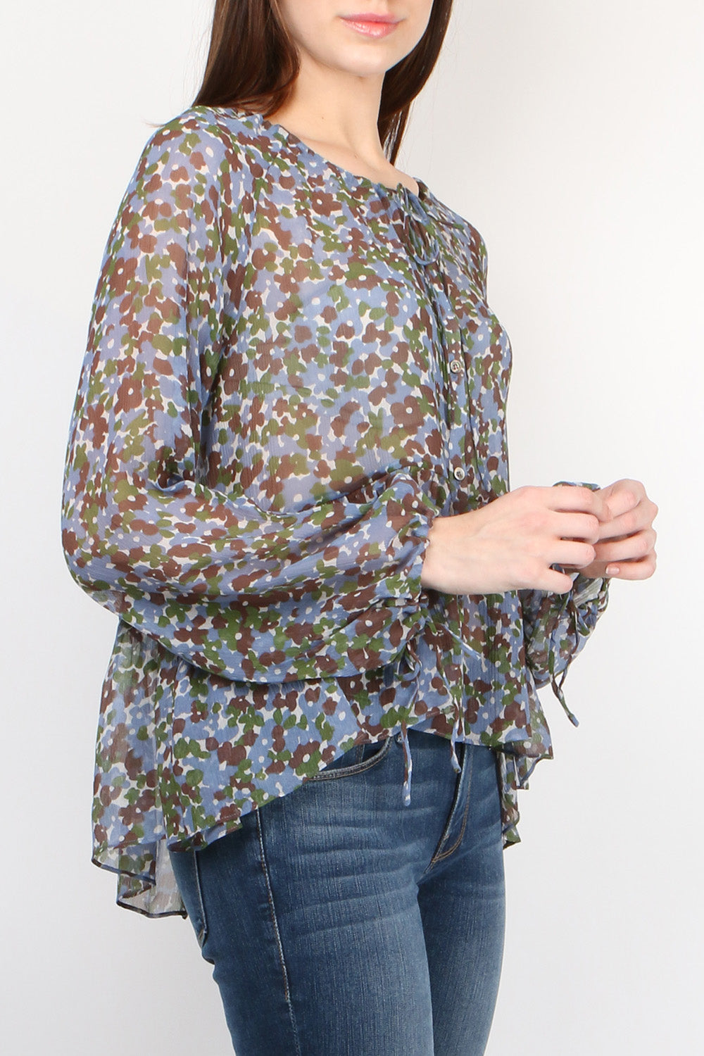 Lee Mathews Palmer Raglan Top in Juniper