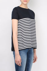 Ma'ry'ya Top Pinces Navy White Stripe
