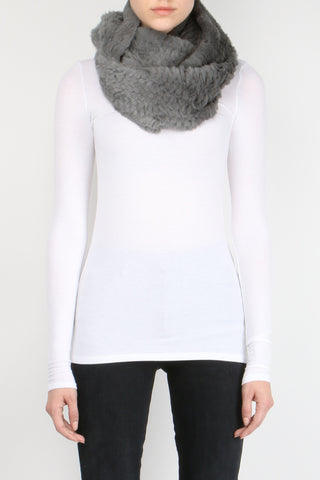 Sheared Rabbit Infinity Scarf