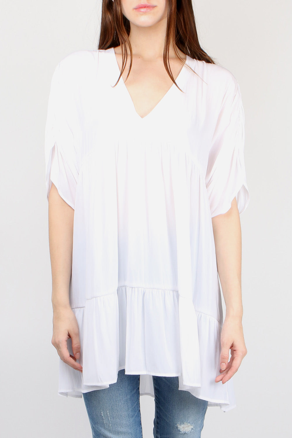 Smythe Tiered Tunic in Chalk