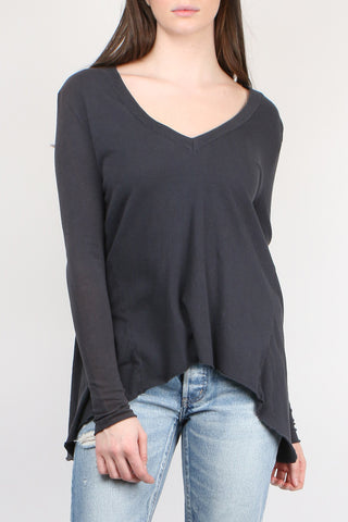Deep V Long Sleeve Swing Tee