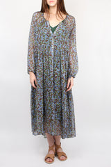 Lee Mathews Palmer Raglan Dress in Juniper