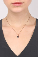 Margaret Solow Black Diamond Slice Necklace