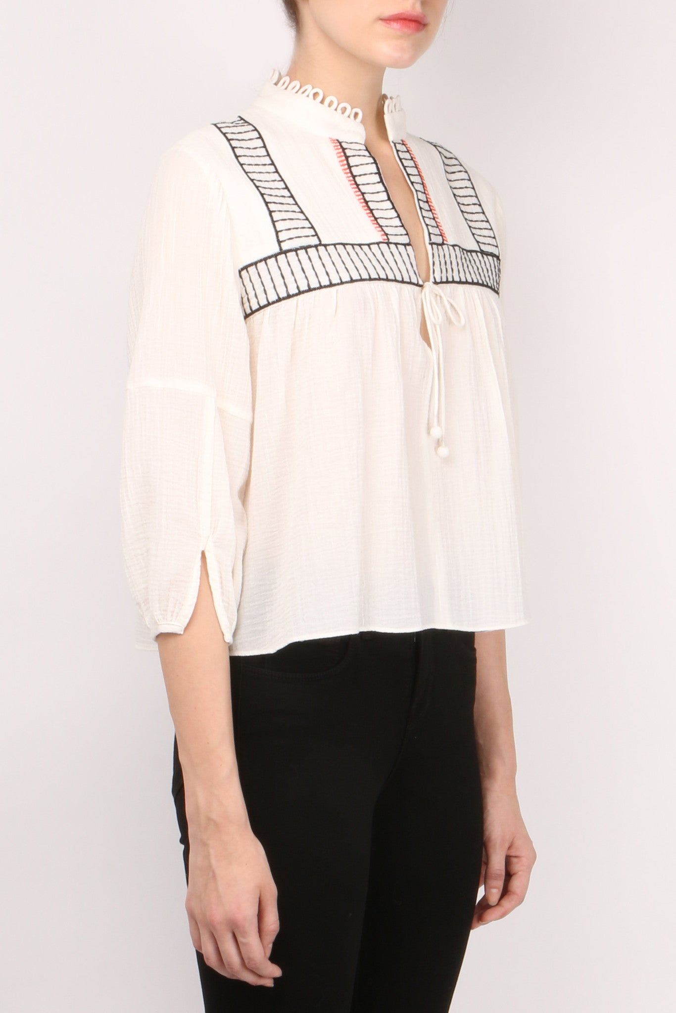 Embroidered Loreto Blouse
