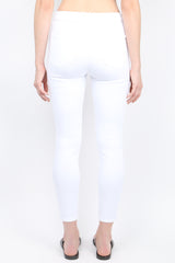 Margot High Rise Skinny Blanc back