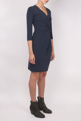 3/4 Sleeve V Neck Dress
