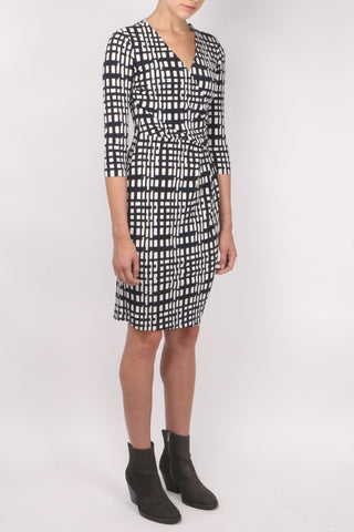 Printed V Neck Dress