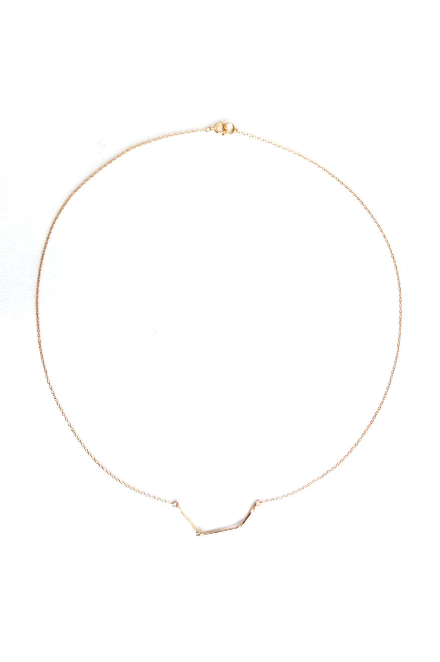 Bar Three Diamond Necklace