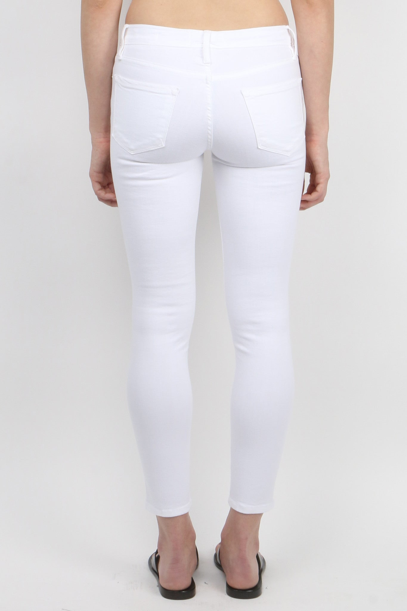 Le Color Crop Blanc Back
