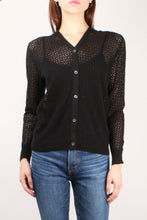 Load image into Gallery viewer, Black Mesh Cardigan