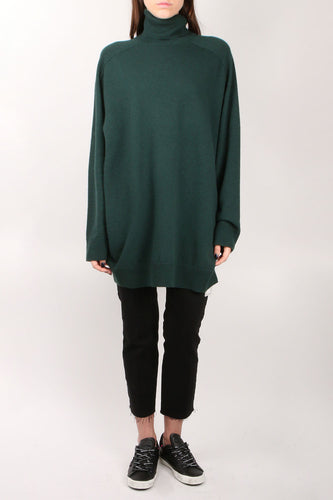 Merino Green Turtleneck