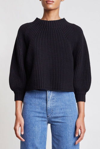 Merel Funnel Black Sweater