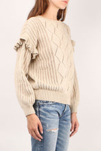 Load image into Gallery viewer, Valdez Crochet Ruffle Crew
