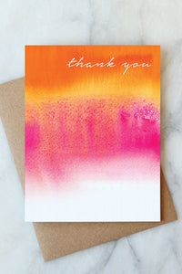 Pink Wash Thank You Card