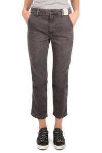 Easy Washed Black Trouser