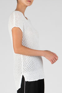 Diagonal Stitch Pullover