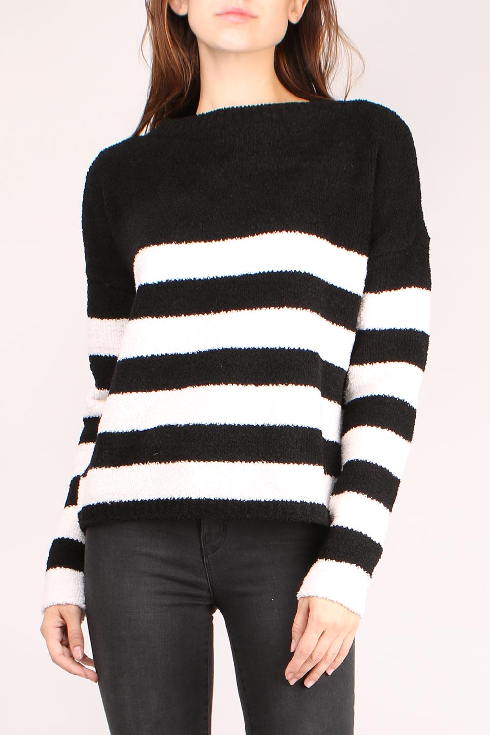 Chenille Boat Neck Sweater
