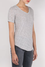 Load image into Gallery viewer, ATM Short Sleeve V Neck Grey