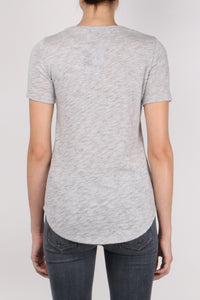 ATM Short Sleeve V Neck Grey