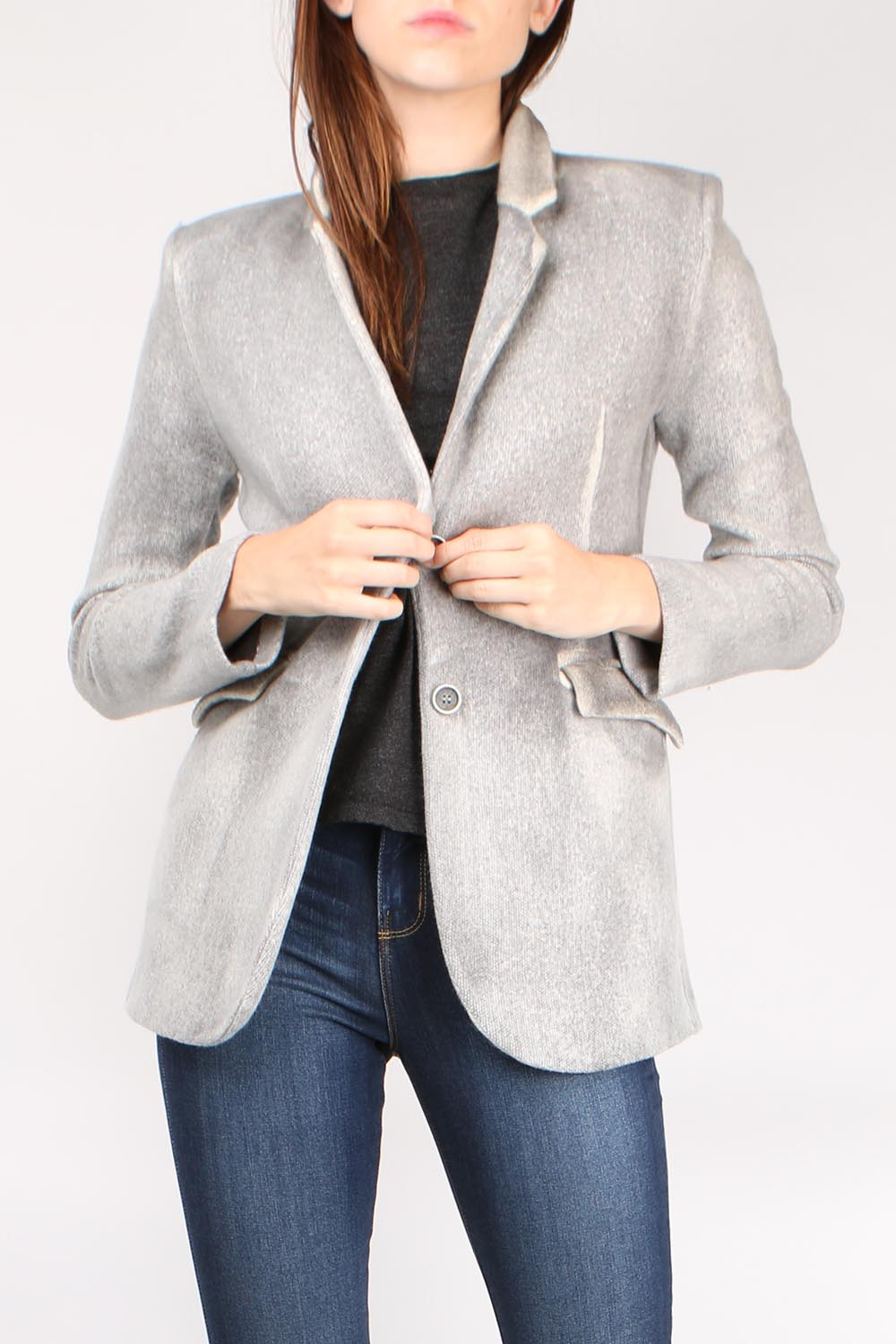Washed Knit Blazer