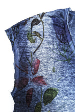 Load image into Gallery viewer, Blue Floral V-neck Tee