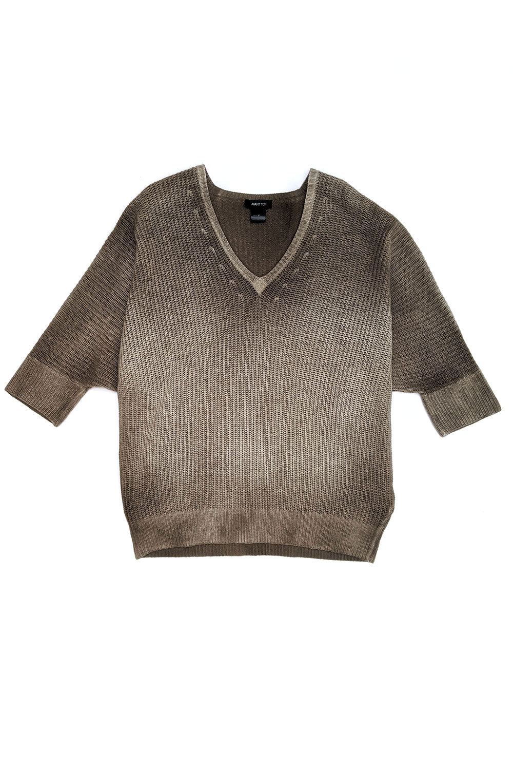Ombre V-Neck Knit