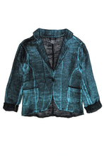 Load image into Gallery viewer, Laminated Turquoise Jacket
