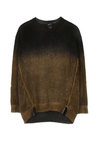 Black and Olive Ombre Crew