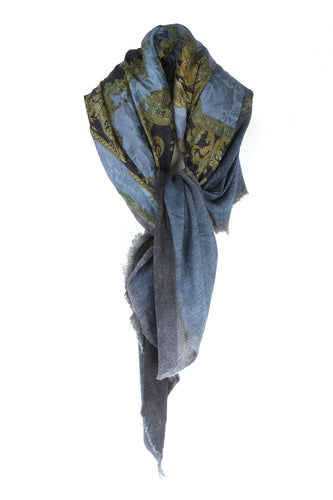 One of A Kind Multi Blue Scarf