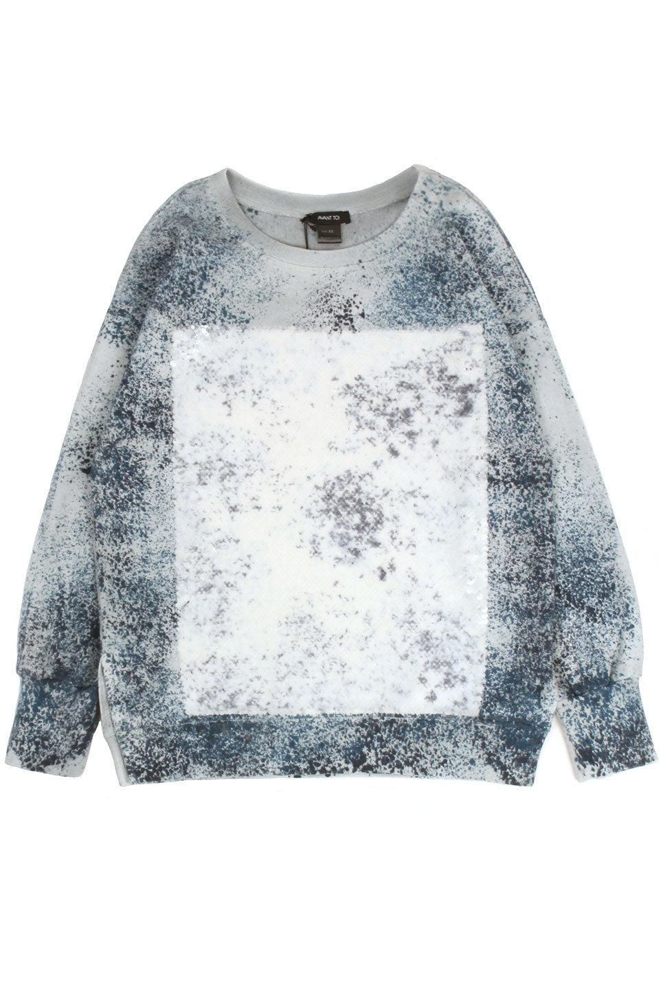 Sweater W/ Sequins and Powder Effect