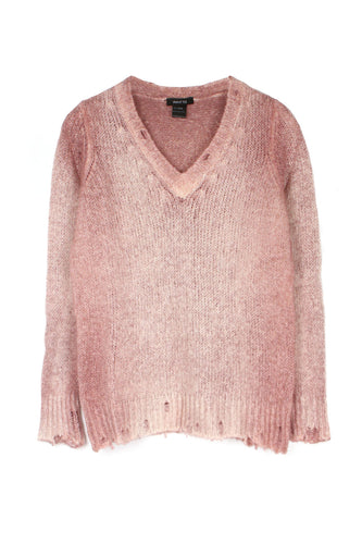 Rose Ombre V Neck