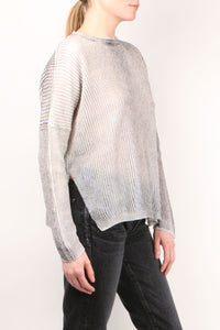 Boxy Laminated Knit